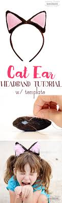 how to make cat ears diy cat ear headband tutorial w template scattered thoughts of
