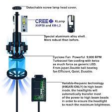 hikari led headlight bulbs conversion kit h11 h8 h9