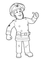 Coloriages De Dessins Animés Sam Le Pompier