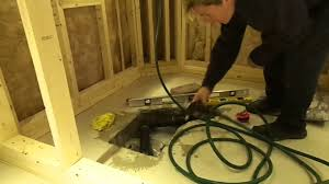 Bathtub Drain Trap Assembly by How To Install A Shower Drain In A Cement Floor Youtube