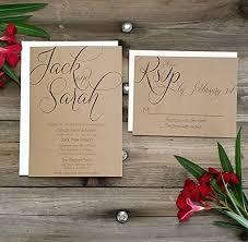 Amazon PRINTED Country Rustic Wedding Invitation Rsvp W