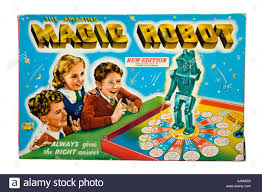 Box From Merit Toys 1950s Magic Robot Vintage Board Game