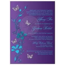 Blue & Purple Orchid Wedding Invitations Pinterest