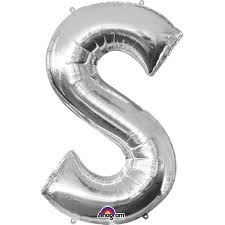 Extra Large Silver Foil Balloon Letter S Hobbycraft