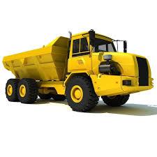 100 Yellow Dump Truck 3D Model CGTrader