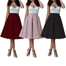 knee long skirts