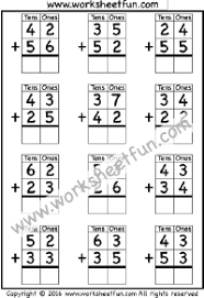 2 Digit Addition No Regrouping 3 Worksheets