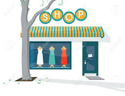 Shop Exterior Illustration Of The A Dress Royalty