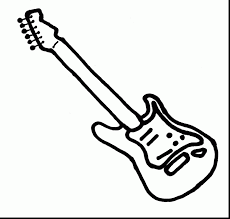 Amazing Electric Guitar Coloring Pages With Page And Printable