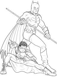 Online Batman And Robin Coloring Pages 61 For Your Picture Page With