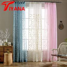 Rustic Style Linen Cotton Material Cortinas Leaves Design For Window Bedroom Living Room Kitchen Sheer Curtains