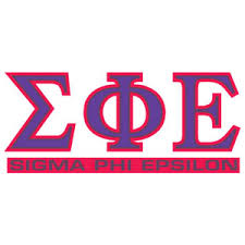 Greek Store Sigma Phi Epsilon Letters Over Name Decal Greek Clothing