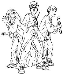 Young Group Harry Potter Coloring Pages