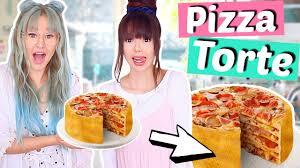 wir backen eine pizza torte einfach irre rezept diy viktoriasarina