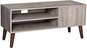 vasagle retro lowboard tv regal für fernseher bis zu 43 zoll fernsehtisch fernsehschrank retro möbel für ihren flachbildschirm spielekonsolen