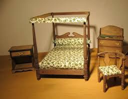 um ca 1930 puppenstuben möbel schlafzimmer antik echtholz 4 tlg