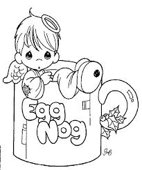 Coloring Pages Printable Cute Design Kid Book Egg Nog Mug Human Pattern Shap Eline Picture