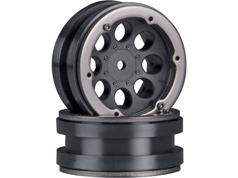 Axial Beadlock Wheel - Black, 8 Hole, 1.9""