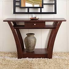 amazon com magnolia modern 1 drawer dark walnut wood narrow sofa