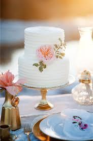 Peony Adorned Wedding Cake