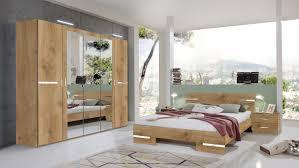 wimex schlafzimmer komplett spiegel bett 180x200cm 4 teilig plankeneiche
