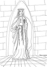 Medieval Princess Coloring Page