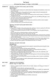 Download Regional Security Manager Resume Sample As Image File