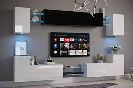 furnitech nairobi c1 möbel wohnzimmer schrankwand wohnwand wandschrank mediawand mit led beleuchtung d40 hg bw6 möbel ohne led