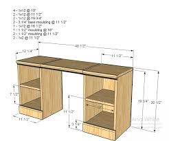 Building A Simple Wood Desk by Ana White Play Vanity Diy Projects