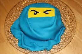 Blue Ninjago Birthday Fondant Cake