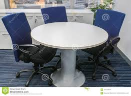 White Round Table With Blue Chairs For Office Meeting Stock Photo ... Farmhouse Style Hand Painted Round Pine Ding Table 4 Chairs Soft Skagen Round Table Oak Gripsholm Chair Cool Retro Dinettes 1950s Cadian Made Chrome Sets Stream With 4chairs Modern Glass Clear For 10 Gorgeous Black Tables Your Room Dollhouse Shabby Chic Chair Set Perfect A Sitting Room White Interior Blue Stock Illustration Saturn Base Boulevard Urban Living Buy Pastoral Fabric Cloth Tablecloth Coffee Wonderful With And Popular Luxury Affordable Fniture Grosvenor