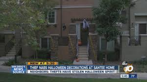 Spirit Halloween San Diego by Thief Nabs Halloween Decorations At Santee Home Youtube