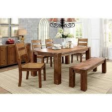Sun Pine Sturdy Wooden Dining Bench Wood Dark Oak Target