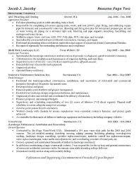Plumber Resume Objective Statement Example Sample Dew Drops Rh Info Plumbing Career Journeyman