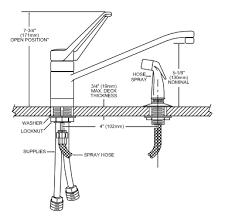 Moen Kitchen Faucet Repair Diagram Moen Single Handle Kitchen Faucet Repair Diagram