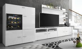 wohnzimmer möbel set mit la sommelière wein fach in schwarz oder weiß
