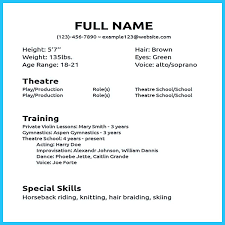 How To Make Resume Sample Actor Resume Sample Presents How You Will