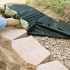 how to lay a garden patio build a retaining wall with landscape blocks garden club