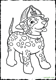 Full Image For Dog Coloring Pages Toddlers Free Fire Safety Kids