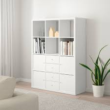 kallax shelving unit with 6 inserts white ikea ikea