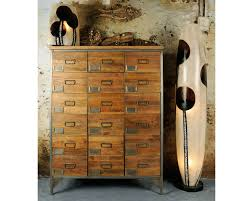 Apothecary 18 Drawer Chest Mango Wood Cabinet
