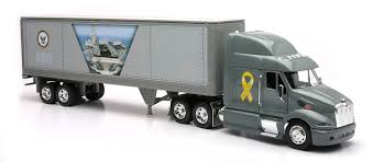 Amazon.com: Newray Peterbilt US Navy Truck Diecast 1:32 Scale [Toy ...