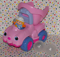 12*SOLD~Fisher Price Little People Pink Girl Dump Truck Construction ...