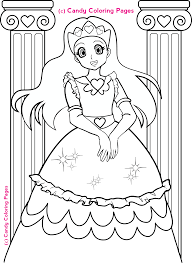 Free Princess Coloring Pages Penny Candy For Kids