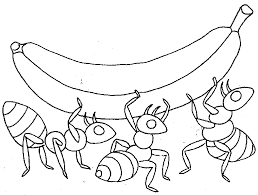 Cartoon Ant Coloring Page