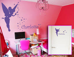 chambre fee clochette sticker fée clochette avec prénom personnalisé fée et stickers