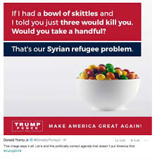 1963 Poisoned Halloween Candy by Donald Trump Jr Compares Refugees To Poisoned Skittles Twitter