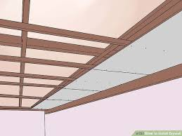 Ceiling Joist Spacing For Drywall by How To Install Drywall With Pictures Wikihow