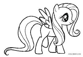 Pony Printable Coloring Pages My Little Free