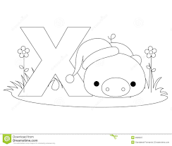 Royalty Free Stock Photo Download Animal Alphabet X Coloring Page